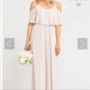 Show me the ring crisp bridesmaid dress